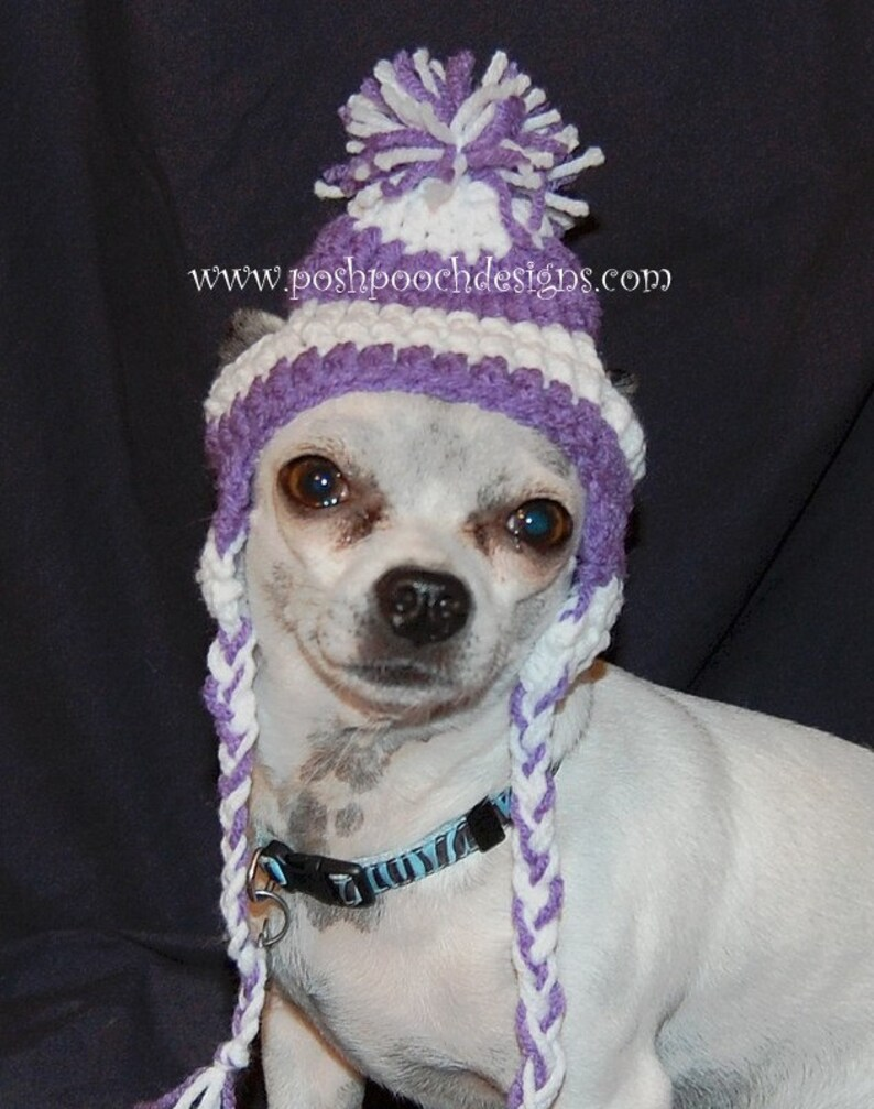 dbb6299bbd4 Earflap Dog Hat Custom made for Dogs 2-15 lbs Chihuahua hat