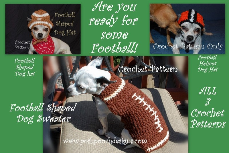 Instant Download Crochet Pattern Bundle Football Dog Etsy