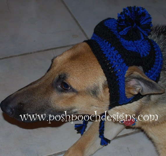 9b489257b90 Earflap Dog Hat Custom Made for Large Dogs 31 to 100 lbs