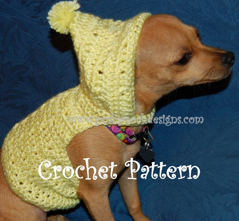Instant Download Crochet Pattern Summer Dog Sweater With Etsy