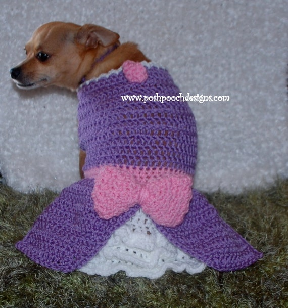 Instant Download Crochet Pattern Sofia Dog Dress Small Dog Etsy