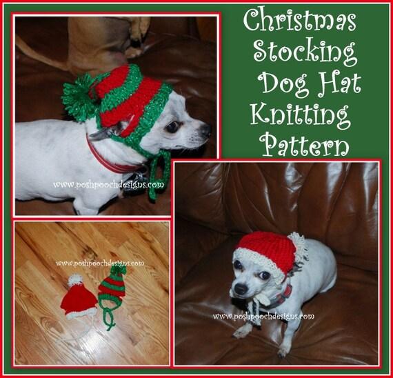 Christmas Stocking Dog Hat Knitting Pattern Instant Download Etsy