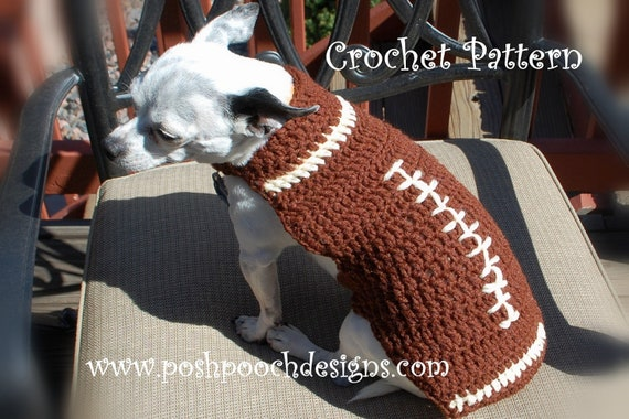 Instant Download Crochet Pattern Football Shaped Dog Sweater Etsy