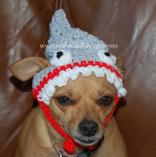 Instant Download Crochet Pattern Shark Dog Hat Small Dog Etsy