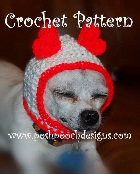 Instant Download Crochet Pattern Hood Dog Hat Small Dog Etsy