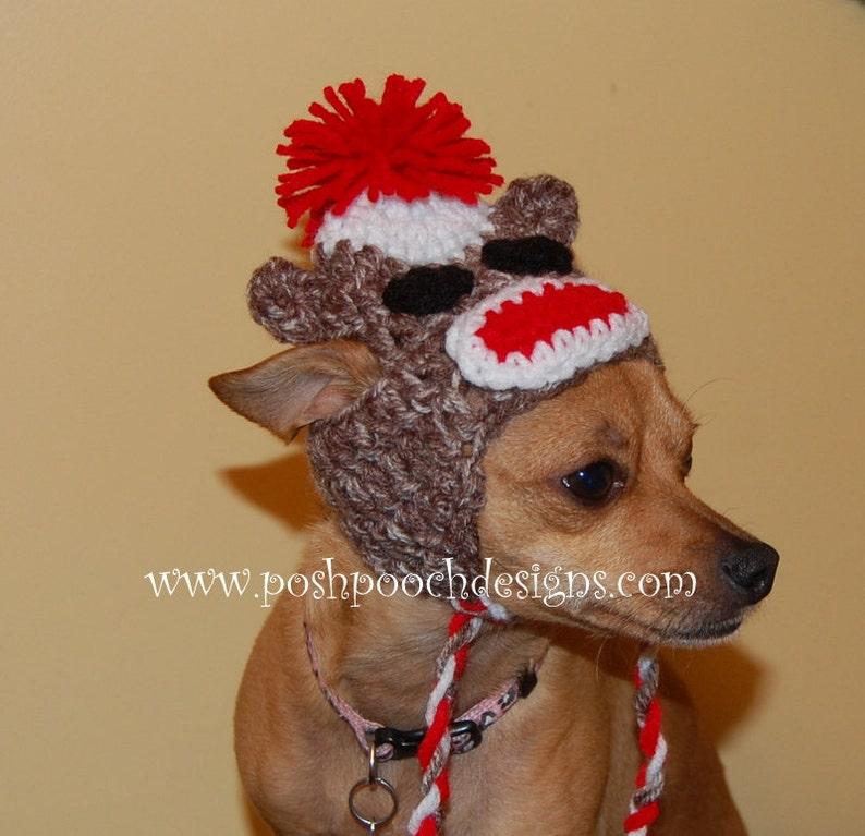 de729f6fbaa Sock Monkey Dog Hat Custom made for Dog 2-15 lbs Small Dog