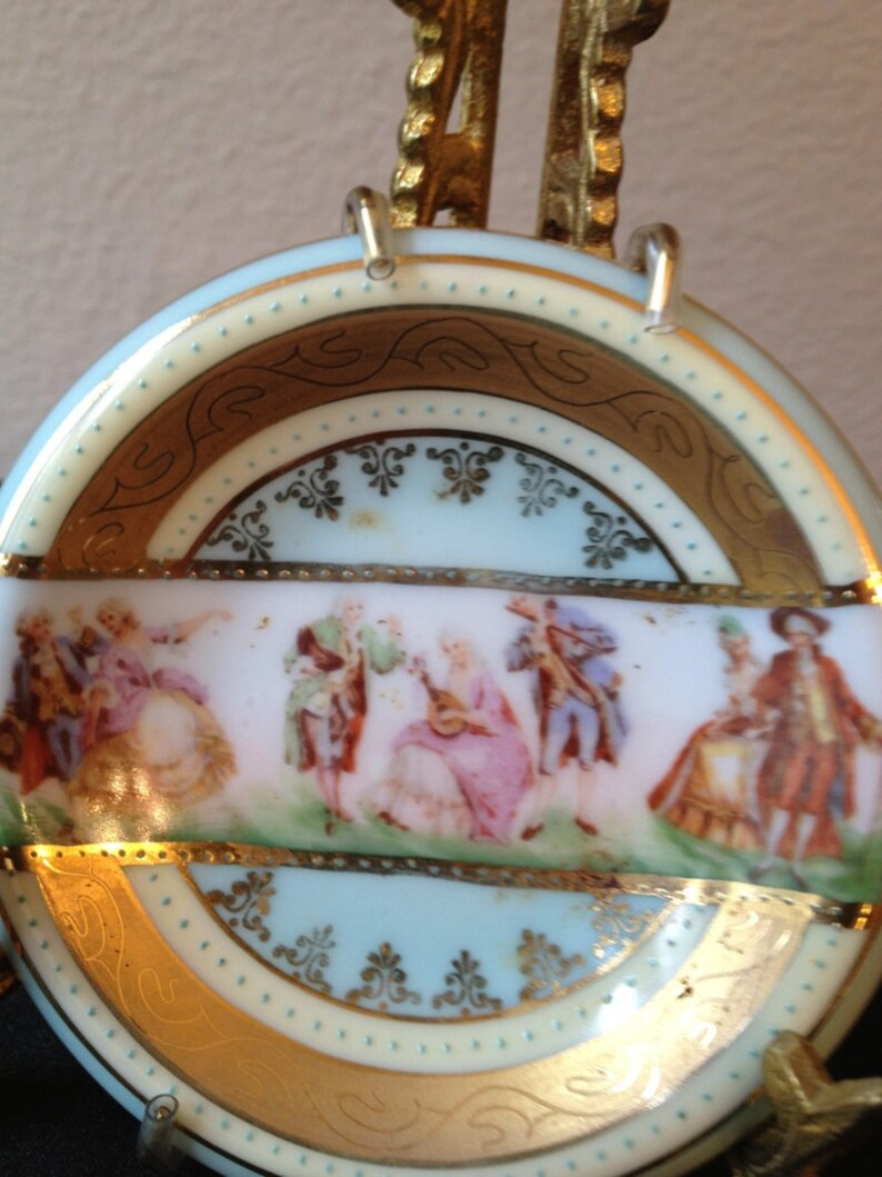 Small J K Decor Carlsbad Germany Decorative Plate With Gold Etsy