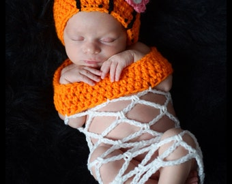 Crochet Basketball Photo Prop (beanie/hat and a basketball net)