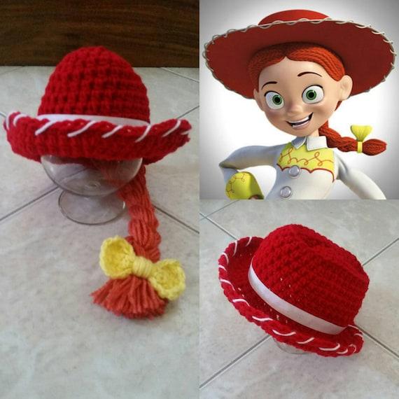 Crochet Disney s Toy Story 2 Jessie Cowgirl Hat  67447e47d3d