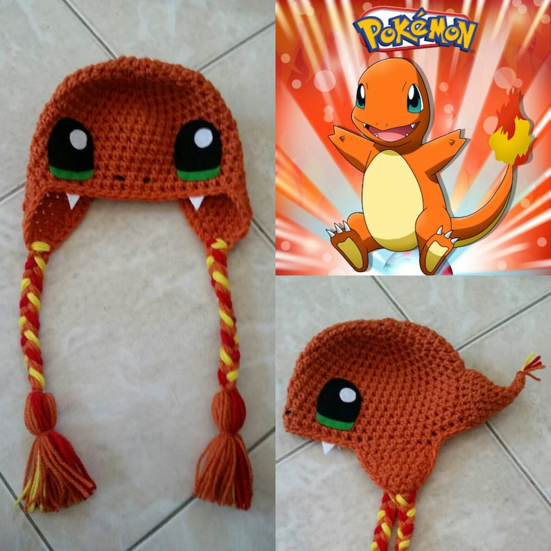 Crochet Charmander Beanie Hat  f8b2ae0f9b6