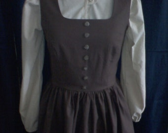 "READY TO SHIP Maria's Brown ""DoReMi"" Dress from the Sound of Music"