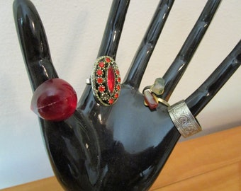 Vintage Lot of 8 Costume Jewelry Rings
