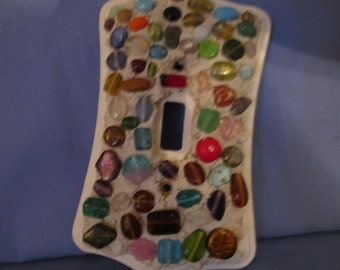 Bead/ stone embellished switch plate