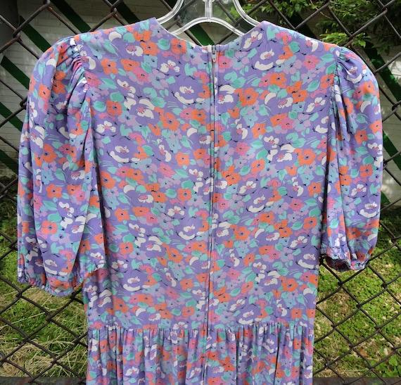 80's JANE SCHAFFHAUSEN floral prairie style midi … - image 7