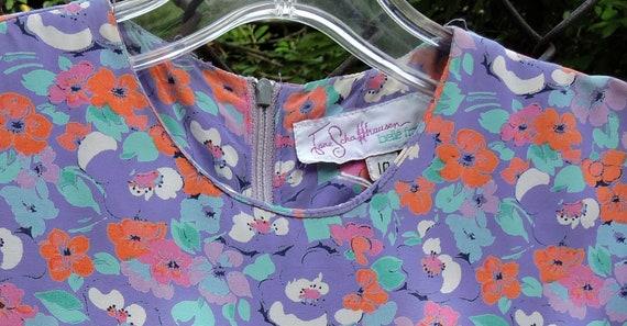 80's JANE SCHAFFHAUSEN floral prairie style midi … - image 9
