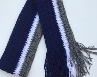 6ed28134f1371 Handmade Crochet Dallas Cowboys Scarf