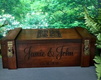 Wine Box, Rustic Wedding, Wedding Wine Box, Anniversary, Wine Box Ceremony, Love Letter Box, Custom, Personalized , Rustic Wine Box