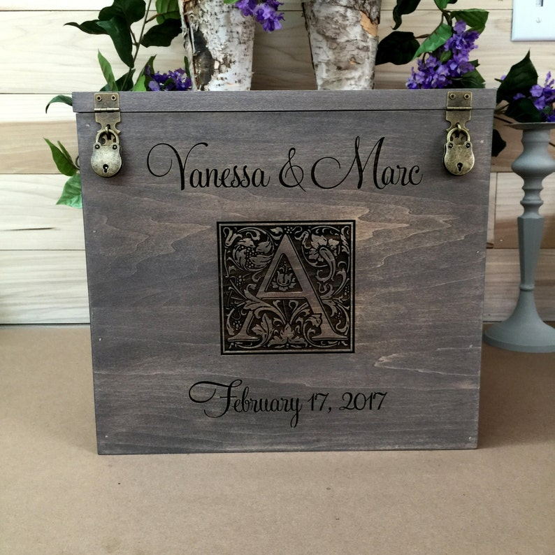 Wedding Card Box Rustic Wedding Gift Card Box Wedding Box Card Box Engraved Engraved Money Box I Have Found The One My Soul Loves