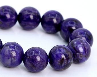 8MM Deep Purple Charoite Beads Grade A Natural Micro Faceted Round Loose Beads 15 Bulk Lot Options 109613