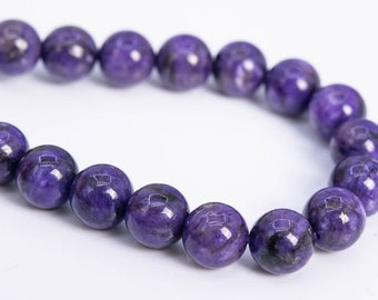 6MM Natural AA Genuine Charoite Beads,15 inches per strand,Gemstone Smooth Round Loose beads wholesale supply,Diy beads