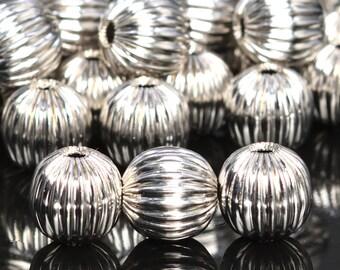 62257-2256 11x8MM Antique Silver Tone Spacer Beads Barrel Drum 5 Pcs Bulk Lot Options