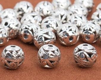 30pcs Tibetan Silver Tone 5 mm Star Patterns Spacer Beads H1934