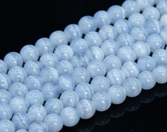 Blue Lace Agate Gemstone Bead Wholesale Bead 44 x 9.5 x 4 mm A3360