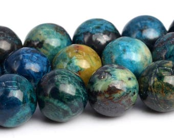 """8MM Multicolor Chrysocolla Beads Grade A Natural Gemstone Full Strand Round Loose Beads 14.5"""" BULK LOT 1,3,5,10 and 50 (103210-731)"""
