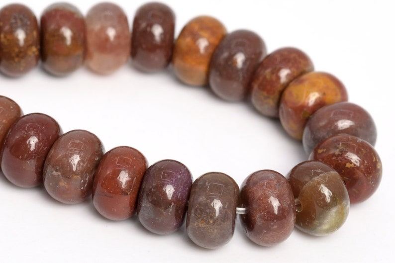 108671 8x5MM Ocean Fossil Agate Beads Grade AAA Genuine Natural Gemstone Rondelle Loose Beads 157.5 Bulk Lot Options