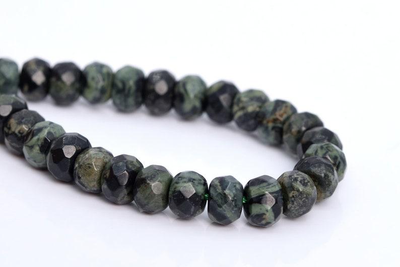 Kambaba Jasper Beads Grade AAA Genuine Natural Gemstone Faceted Rondelle Loose Beads 6x4MM 8x5MM Bulk Lot Options