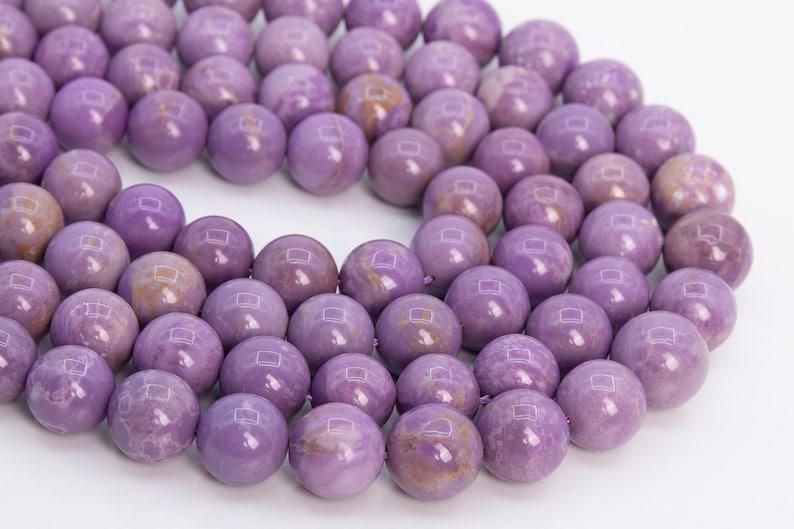 12MM Purple Phosphosiderite Beads Grade A 109347h-2941 Genuine Natural Gemstone Half Strand Round Loose Beads 7.5