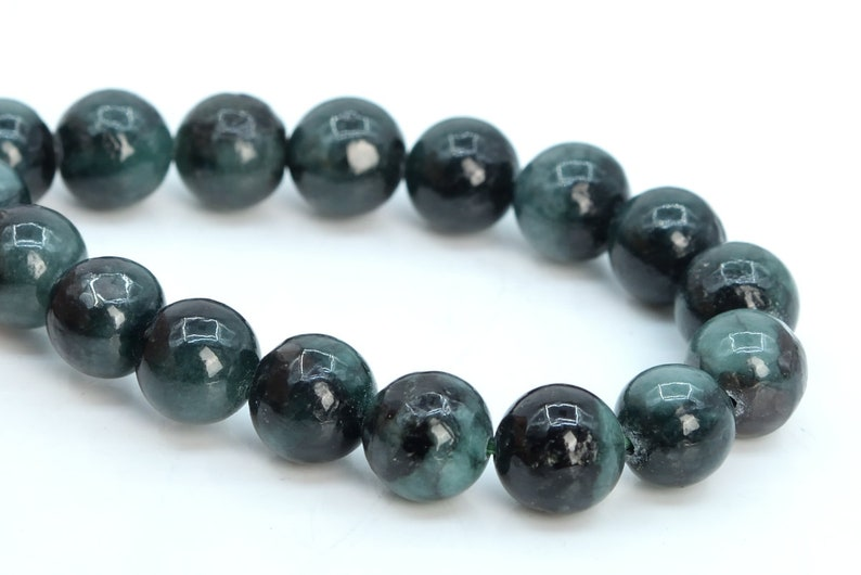 "8mm natural emerald gemstone round loose beads 15/"" strand AAA"