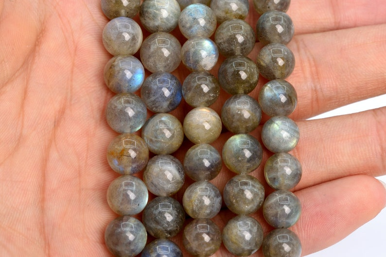 9MM Translucent Gray Labradorite Beads AA Genuine Natural Madagascar Gemstone Full Strand Round Loose Beads 15 106556-1990