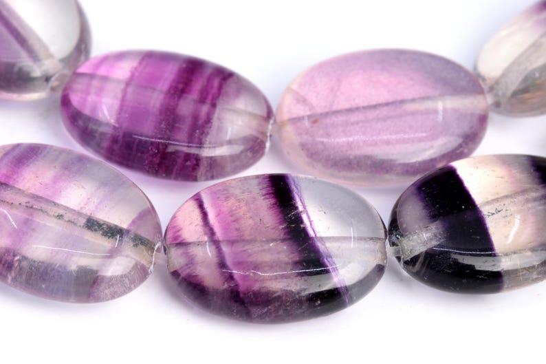14x10MM Rainbow Fluorite Beads Flat Oval Grade AA Genuine Natural Gemstone Loose Beads 15.5 BULK LOT 1,3,5,10 and 50 102804-473