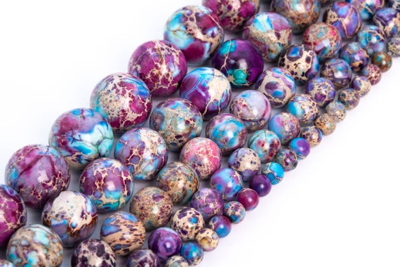 Grade AAA+ 681012mm Blue Imperial Jasper Gemstone Beads Jewelry Making gemstone Beads Sea sediment Jaspers