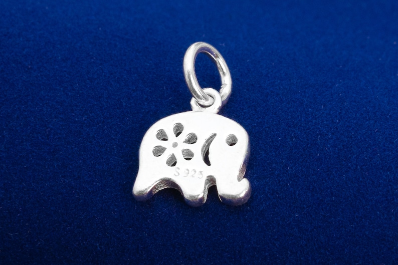 10x9MM Sterling Silver Elephant Charm Solid Silver Bulk Lot Options 61470-2098
