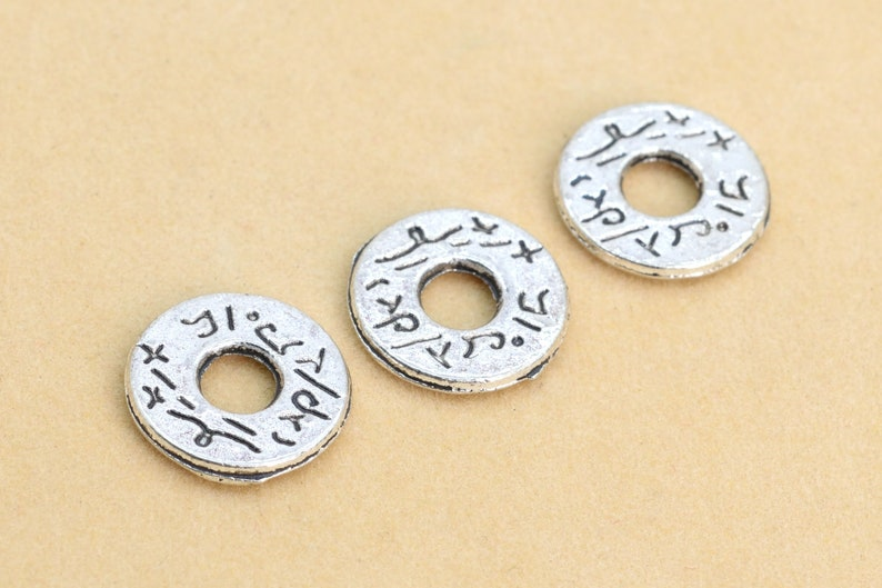 62638-2292 11x1MM Antique Silver Tone Spacer Beads Round Slice 30 Pcs Bulk Lot Options