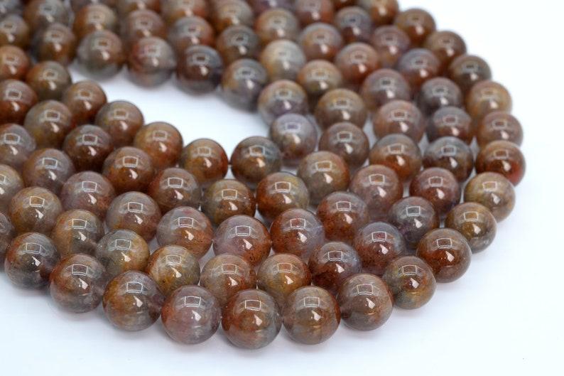 105886h-1773 13MM Rare Auralite 23 Cacoxenite Beads AA Genuine Natural Gemstone Half Strand Round Loose Beads 8 BULK LOT 1,3,5,10,50