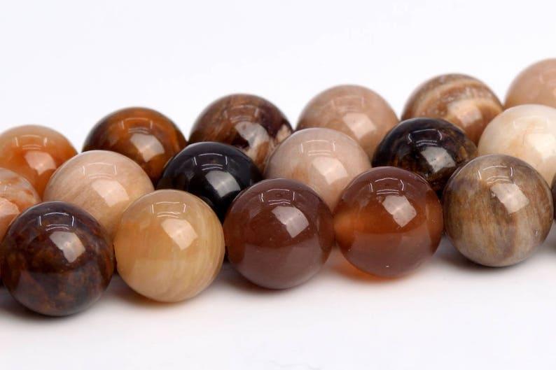 103669-944 6MM Brown Petrified Wood Jasper Beads AAA Genuine Natural Gemstone Full Strand Round Beads 15.5 BULK LOT 1,3,5,10,50