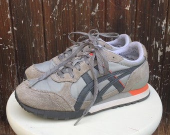 a68a7fc1836c vtg retro ONITSUKA TIGER Trainers Sneakers in Grey   Orange unisex Lace ups     Uk 5 Eu 38