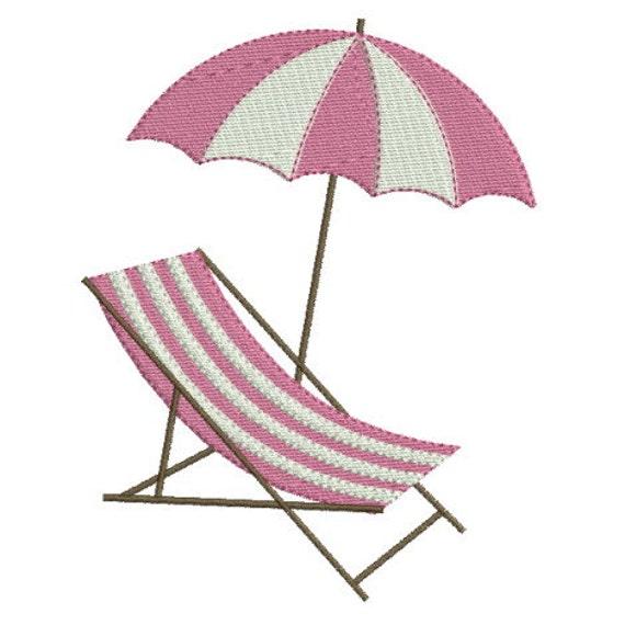 Motif de broderie machine transat de plage et parasol en etsy - Dessin parasol ...