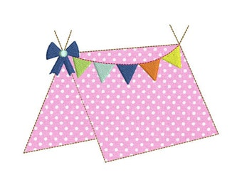 Instant download Camping Tent embroidery design machine.