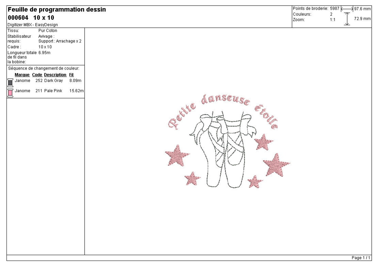instant download ballerina ballet shoes dance embroidery design machine
