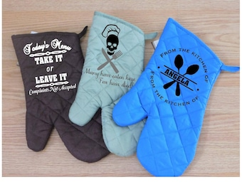 Personalized and Funny Saying Oven Mitt Giftsets-Homewarming Gifts-Wedding Gifts
