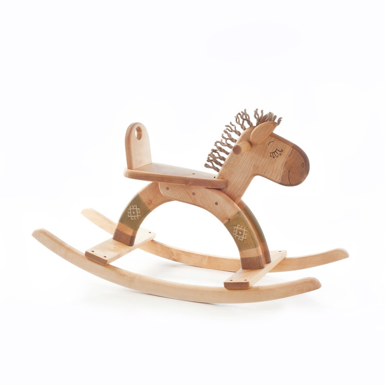 Wooden Rocking Horse Wood Rocking Horse 1st Birthday Gift Handmade Wooden Toys Toddler Gift Personalized Gift For Kids