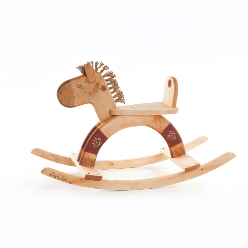 Wooden Rocking Horse Wooden Rocking Toy Wooden Horse Toy Ride On Toy