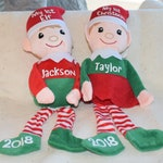 Personalized Christmas Elves, Christmas Elf Plush, Customized Santa's Little Helper Doll