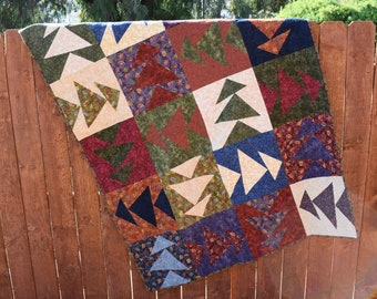 Warm and Cozy Flannel Patchwork Quilt