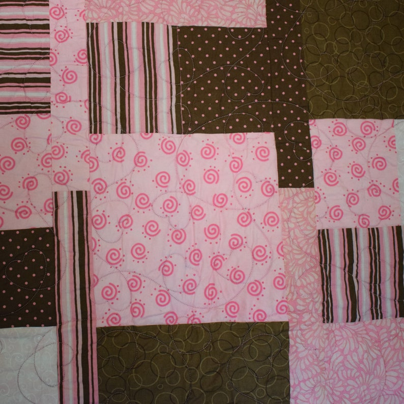 Pink and Brown Quilt/Blanket image 0