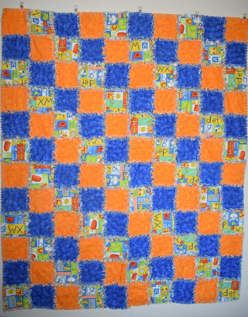 Multi Color Rag Quilt  Baby  Toddler  Child  Warm Bedding image 0
